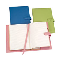 Ocean Blue, Key Lime Green & Carnation Pink Leather Bound Paper Journals